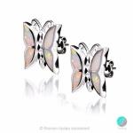 Deana - Сребърен комплект - Висулка и обеци с бял Опал 1891479342W-Естествени камъни