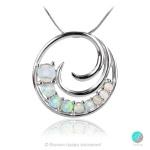 Femie - Сребърна висулка с бял Опал 1891479669-Естествени камъни