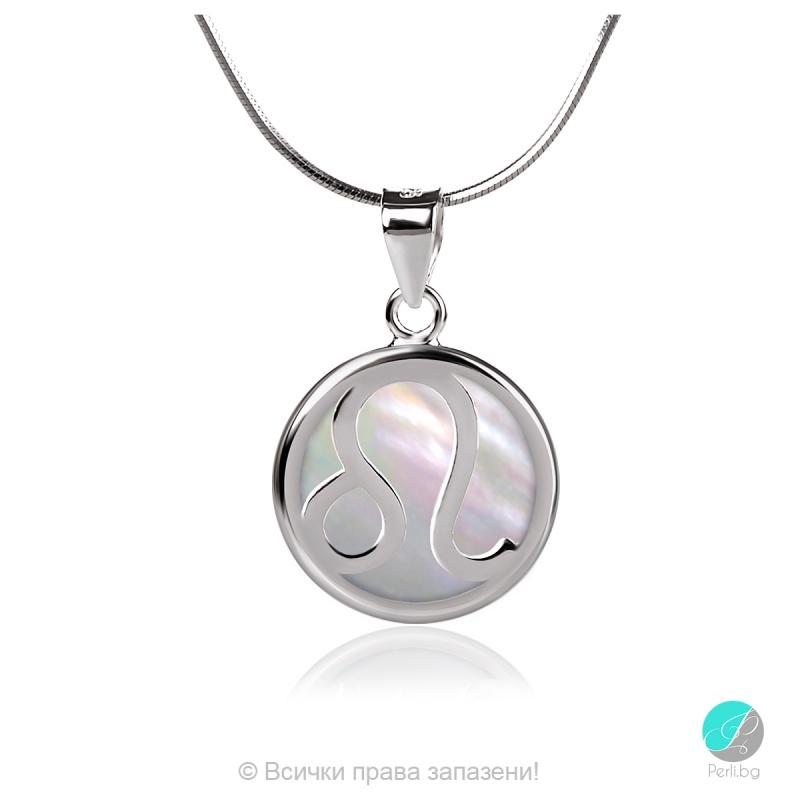 Capricorn - Сребърна висулка Козирог със Седеф 22516569-Сребърни бижута
