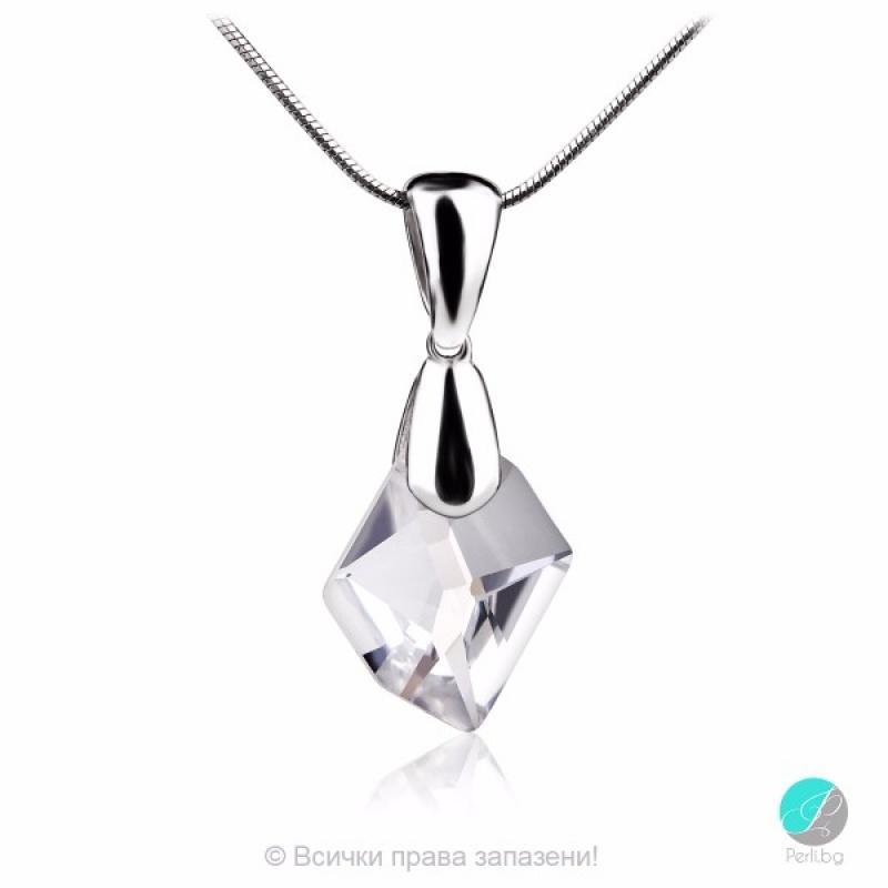 Linn - Сребърно колие с кристал Swarovski Cosmic Pendant 14 мм 66801239-Кристали