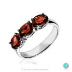 Beki - Сребърен пръстен с Гранат 2219G-Естествени камъни