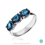 Beki - Сребърен пръстен с Топаз Лондон 2221Lt-Естествени камъни