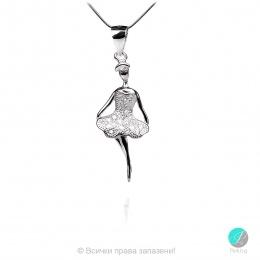 "Ballerina 2 - Сребърна висулка ""Балерина"" с Циркони 2325s"