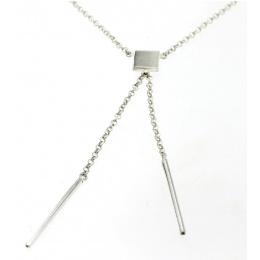 Addison - Сребърно колие без камък 701115-Сребърни бижута