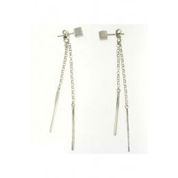 Addison - Сребърни обеци без камък 110115-Сребърни бижута