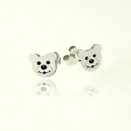 Teddy - Сребърни обеци без камък 111113-Сребърни бижута