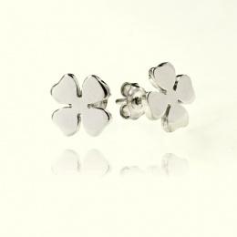 Luck - Сребърни обеци без камък 111123-Сребърни бижута