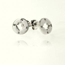 Direction - Сребърни обеци без камък 111124-Сребърни бижута