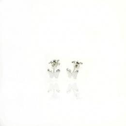 Air - Сребърни обеци без камък 111129