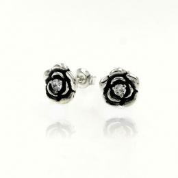 Roses - Сребърни обеци с Цирконий 114308