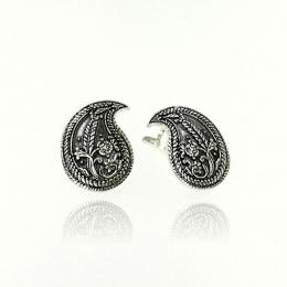 Alesa - Сребърни обеци без камък 136138-Сребърни бижута