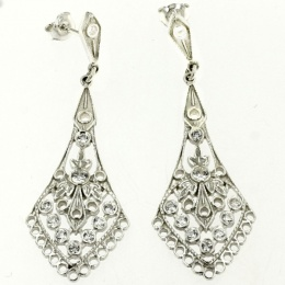 Dahlia - Сребърни обеци с Цирконий 140135-Сребърни бижута