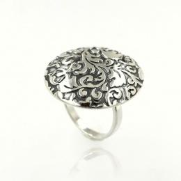 Circle - Сребърен пръстен без камък 1536133-Сребърни бижута