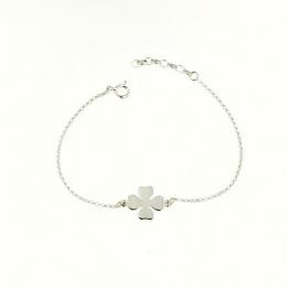 Luck - Сребърна гривна без камък 201123