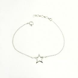 Stars - Сребърна гривна без камък 201126-Сребърни бижута
