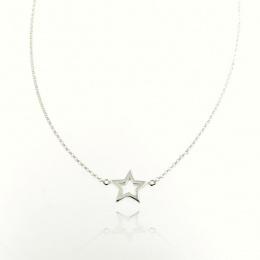 Stars - Сребърно колие без камък 701126