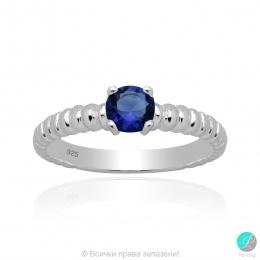 Karlita - Сребърен пръстен с Циркон цвят сапфир 5370118111S-Сребърни бижута