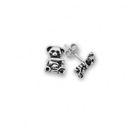 Bear - Сребърни обеци без Камък 111603-Сребърни бижута