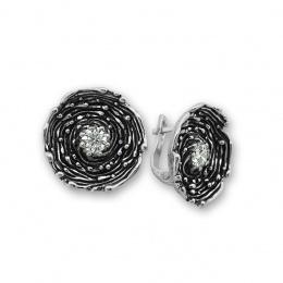 Cornelius - Сребърни обеци с Цирконий 130025-Сребърни бижута