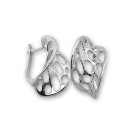 Lusia - Сребърни обеци без Камък 132031-Сребърни бижута