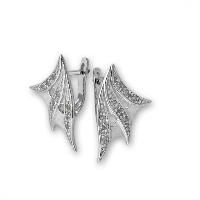 Alisan - Сребърни обеци с Циркони 138600-Сребърни бижута