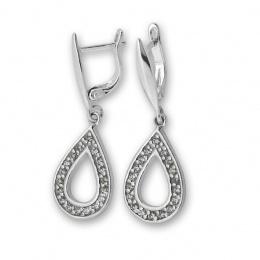 Amery - Сребърни обеци с Цирконий 139591-Сребърни бижута