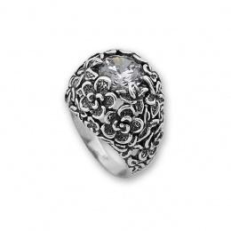 Cyan - Сребърен пръстен с Цирконий 1586028-Сребърни бижута