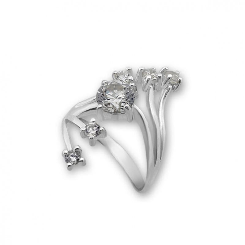 Sintia - Сребърен пръстен с Цирконий 1625255-Сребърни бижута