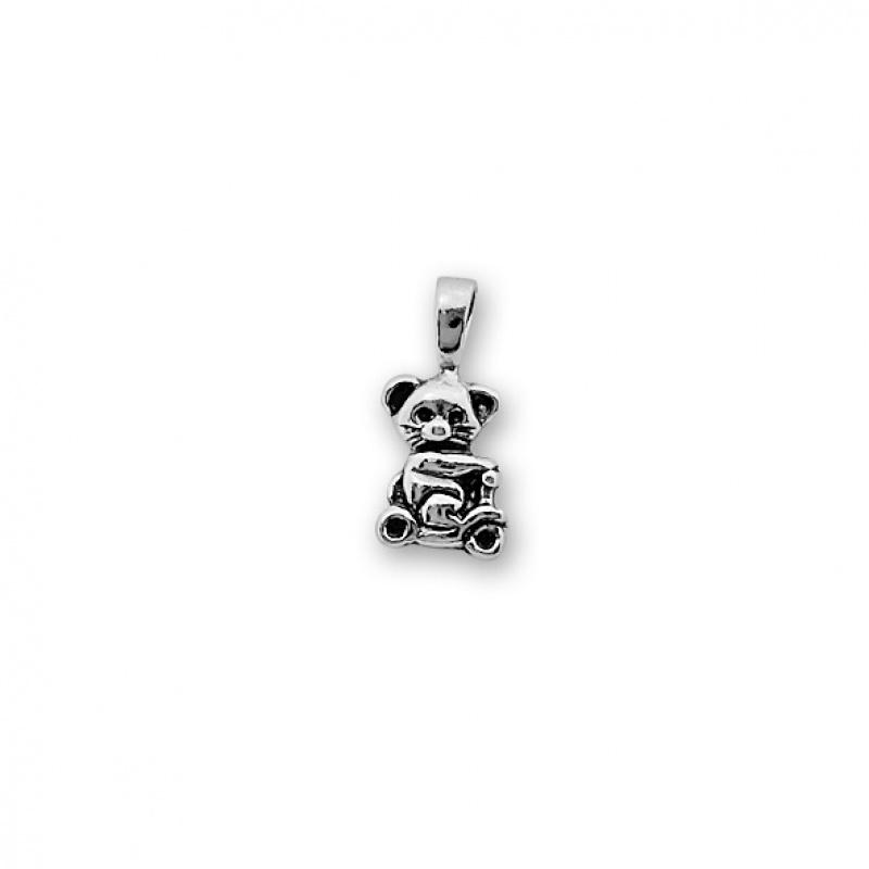 Bear - Сребърна висулка без Камък 192603-Сребърни бижута