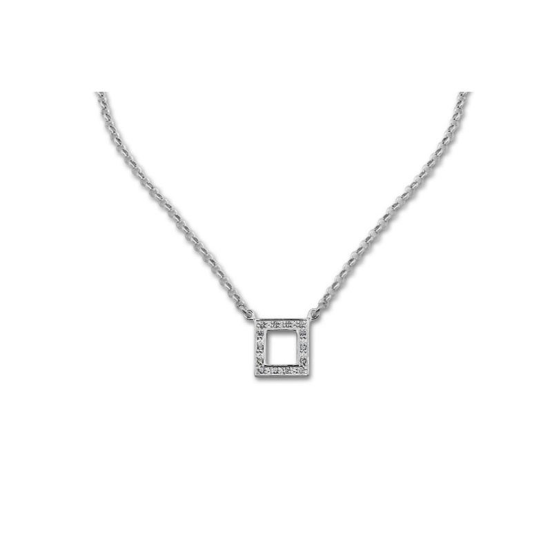 Clem - Сребърно колие с Циркони 700179-Сребърни бижута