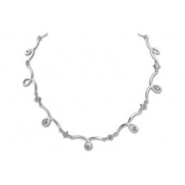 Fina - Сребърно колие с Циркони 700592-Сребърни бижута