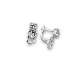 Katerine - Сребърни обеци с Циркон 114621-Сребърни бижута