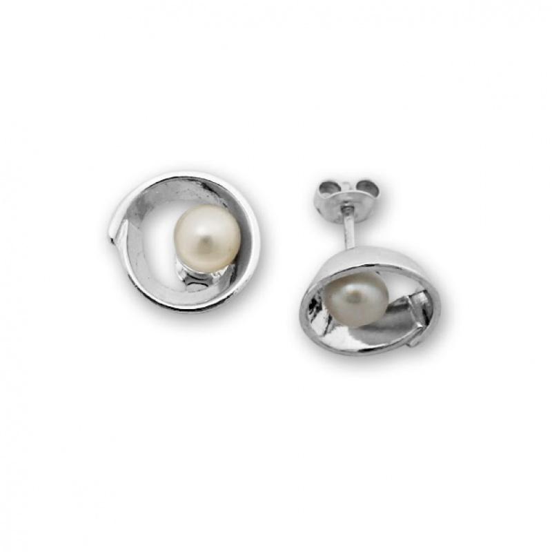 Cameron - Сребърни обеци с Перла А 115063-Обеци