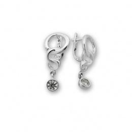 Beatrix - Сребърни обеци с Циркон 121052-Сребърни бижута