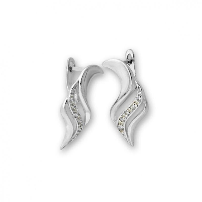 Deacon - Сребърни обеци с Цирконий 138061-Сребърни бижута