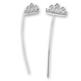 Brady - Сребърни обеци с Цирконий 139055-Сребърни бижута