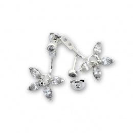 Calen - Сребърни обеци с Цирконий 139066-Сребърни бижута