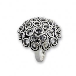 Cara - Сребърен пръстен без Камък 1536051-Сребърни бижута