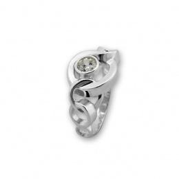 Beatrix - Сребърен пръстен с Циркон 1596052-Сребърни бижута