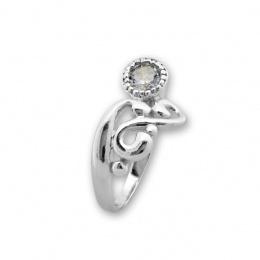 Betony - Сребърен пръстен с Циркон 1596053-Сребърни бижута