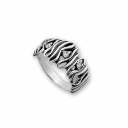 Bev - Сребърен пръстен с Цирконий 1616059-Сребърни бижута