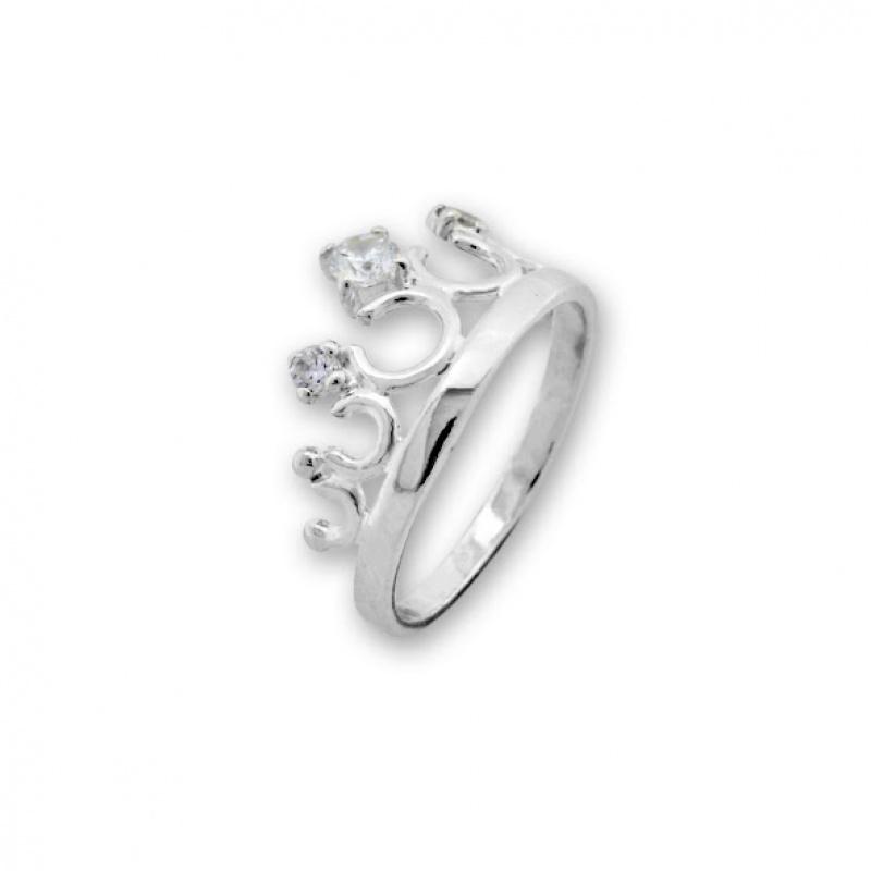 Brady - Сребърен пръстен с Корона с Цирконий 1626055-Сребърни бижута
