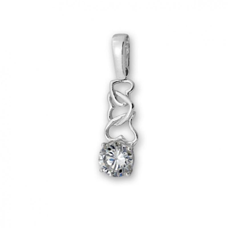 Katerine - Сребърна висулка с Циркон 184621-Сребърни бижута