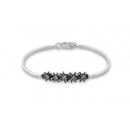 Breann - Твърда сребърна гривна с Цирконий 200057