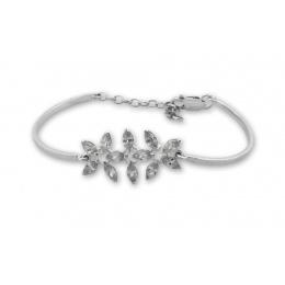 Calen - Твърда сребърна гривна с Цирконий 200066-Сребърни бижута