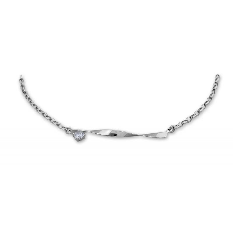 Camellia - Сребърно колие с Циркон 700289-Сребърни бижута