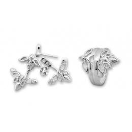 Dollie - Сребърен комплект от две части без Камък - Обеци и Пръстен 8000050-Сребърни бижута