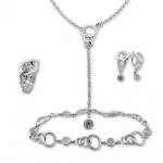 Beatrix - Сребърен комплект от четири части с Цирконий - Колие, Гривна, Обеци и Пръстен 8000052-Сребърни бижута