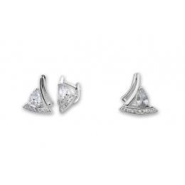 Monti  - Сребърен комплект от две части с Цирконий - Висулка и Обеци 8000623