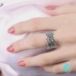 Burke - Сребърен пръстен без Камък 1536033-Сребърни бижута